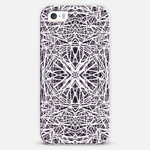 Black and white phone cover by Claudia Owen