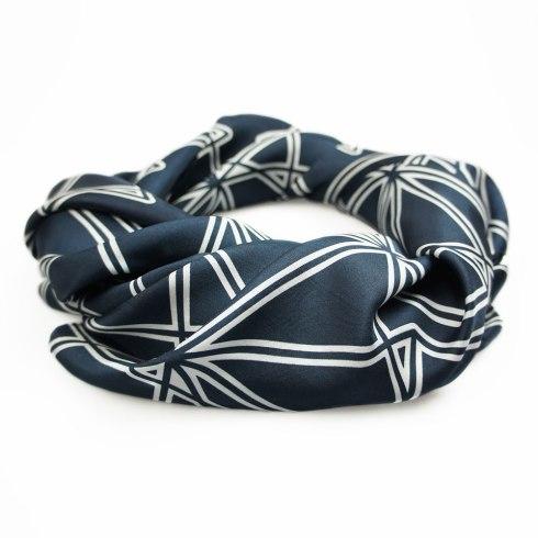 Black Symmetry Silk Scarf By Claudia Owen 4