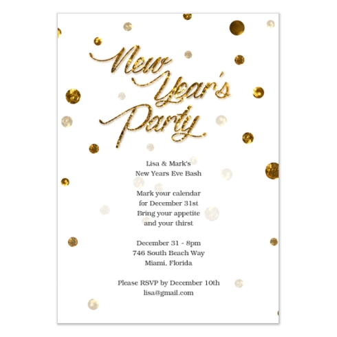 New Years Party Card by Claudia Owen for Celebrations 1