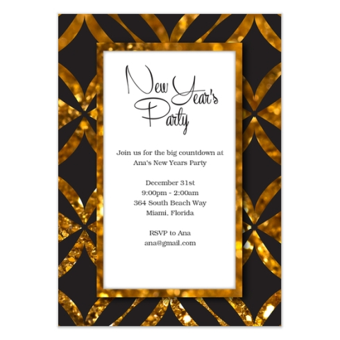 New Years Party Card by Claudia Owen for Celebrations 2