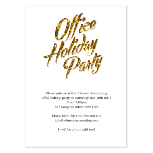 Office Holiday Card by Claudia Owen for Celebrations